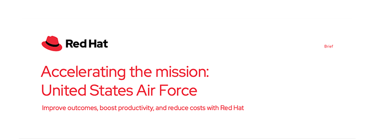 Red Hat accelerating U.S.Air force brief cover