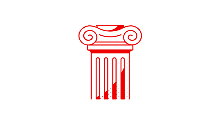 outline drawing of an ionic column