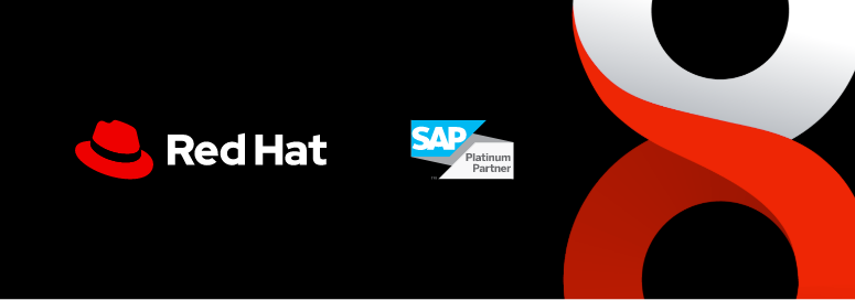 Red Hat and SAP logos with RHEL image