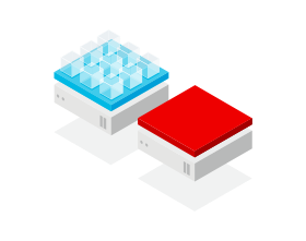Illustration of Red Hat technology, using red to call attention