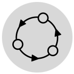 Lifecycle icon in gray circle
