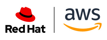 Red Hat and AWS joint logo