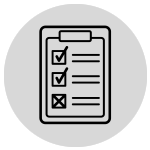 Checklist icon with 2 out of 3 tasks complete