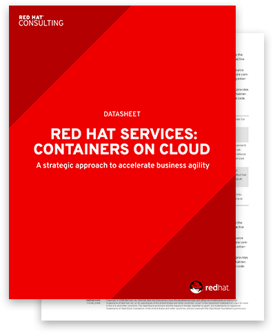 Red Hat Services: Containers on cloud