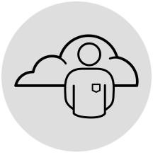 Support help icon in gray circle