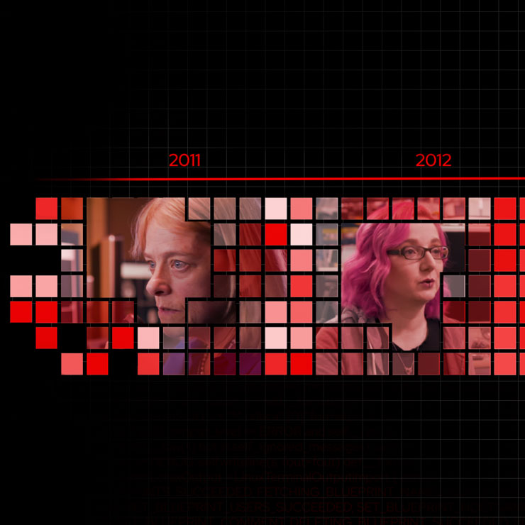 video screenshot featuring female developers