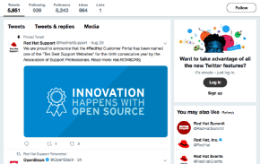 red hat support twitter