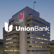 Union Bank logo on image of building