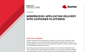 modernizing app delivery with container platforms