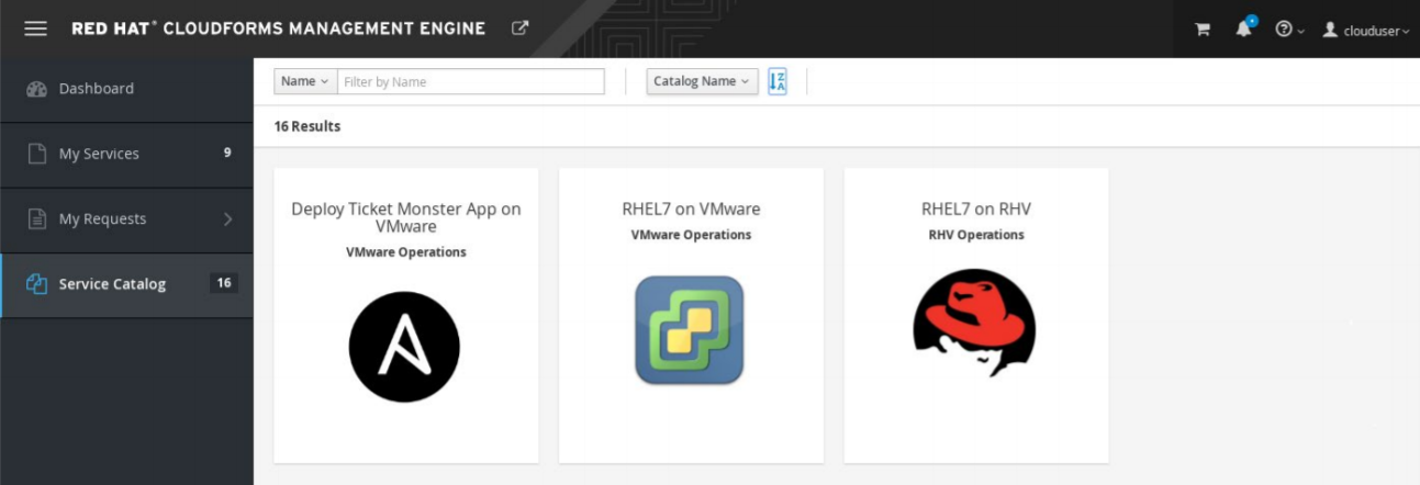 Red Hat CloudForms Management for VMware environments