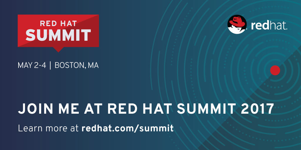 Join me at Red Hat Summit