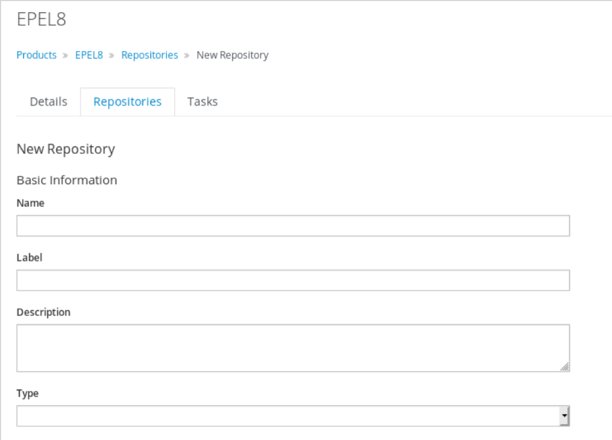 Create a new repository in Red Hat Satellite