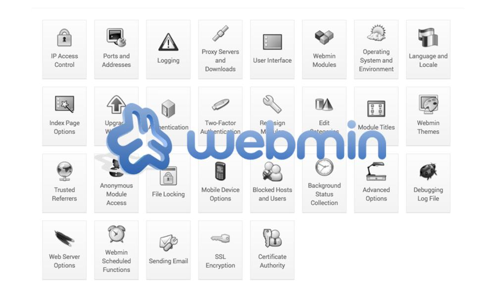 Webmin - The web-based system management tool