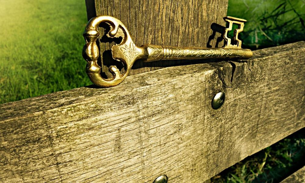Key on a fence